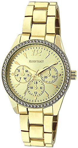 Ellen Tracy Women's Quartz Metal and Alloy Watch, Color:Gold-Toned (Model: ET5218GD)