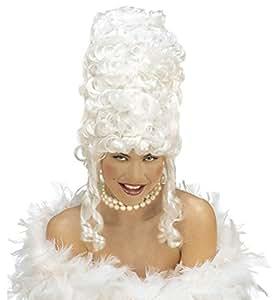 Widmann wid6249r–Peluca Marie Antoinette, blanco, talla única