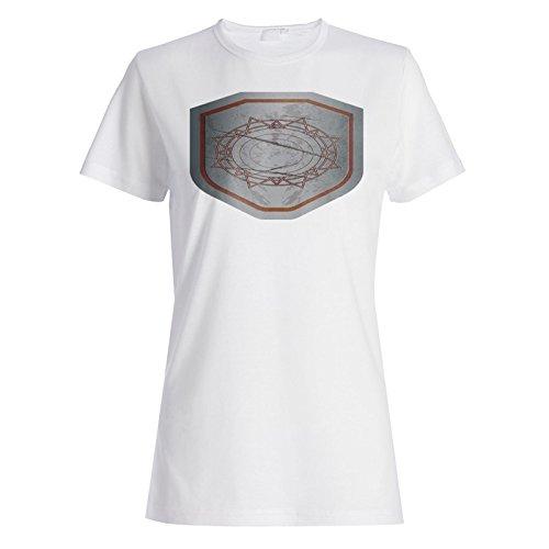 Mittelalterliche Goldschild-Weinlese lustig Damen T-shirt a993f