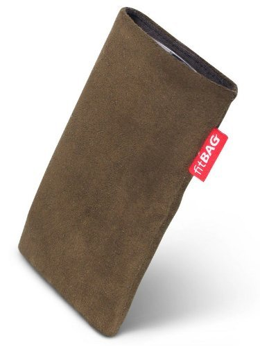 fitBAG Country Braun Handytasche Tasche aus Wildlederimitat mit Microfaserinnenfutter für APPLE iPhone 3Gs 32GB 32 GB