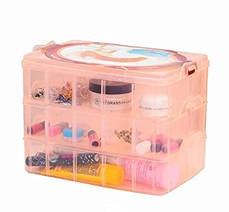 49867da12 SKYFUN (LABEL) Clear View Transparent Plastic Storage Cabinet Chest Box  Organizer with Removable Dividers,Multi Color-3 Layer-30 Sections:  Amazon.in: Home & ...