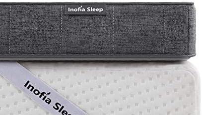 Inofia Sleep Protège-matelas hypoallergénique pour lit king size 7,5 cm