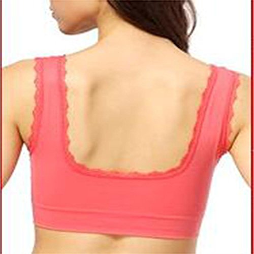 Soutien-gorge de sport pas d'anneau en acier section mince pour augmenter le code soutiens-gorge de sport féminin sports L red
