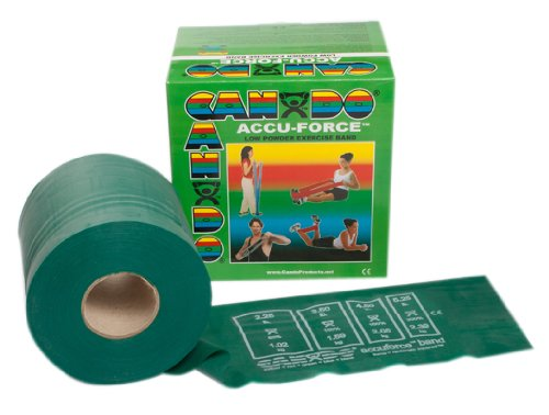 Cando Accu-Force Band Low Powder 50 yds Medium Green for rehabilitation, conditioning & training