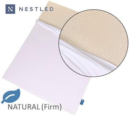 100 Natural Latex Mattress Topper – Firm – 3 Inch – King Size – Cotton Cover Included.
