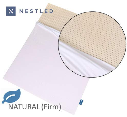 100% Natural Latex Mattress Topper - Firm - 3 Inch - Queen Size - Cotton Cover Included. (Furnishings Homemade)