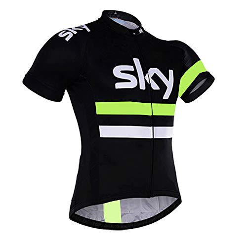 HnjPama Pro Team Men Women Cycling Jersey Bamboo Fiber Cycling Jersey Quick Dry Jersey-Green01-XXL by HnjPama