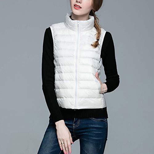 Doudoune Femmes Gilets Manches Manteau Body store Warmers Blanc Ultraléger Sans Emballable Gilet Cx qpfAE5w