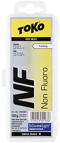 Toko NF Hot Ski Wax, Yellow, - Wax Bluebird