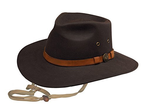 (Outback Trading Co Mens Co. Kodiak Oilskin Hat Brown XX-Large)