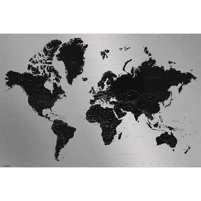 World Map Contemporary Poster Art Print