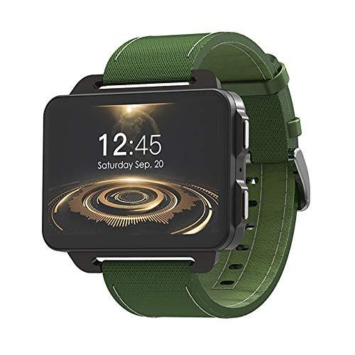 ZUZEN 3G Smart Watch Android Phone Support GPS SIM Card MP4 Bluetooth WiFi Smartwatch 1GB +16GB 1200Mah Wrist Watch Men,Green
