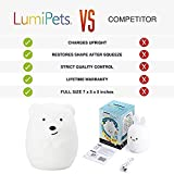 LED Nursery Night Lights for Kids: Baby Girl Gifts, Lumipets Cute Animal Silicone Baby Night Light with Touch Sensor - Portable and Rechargeable Color Changing Lamps for Bedrooms