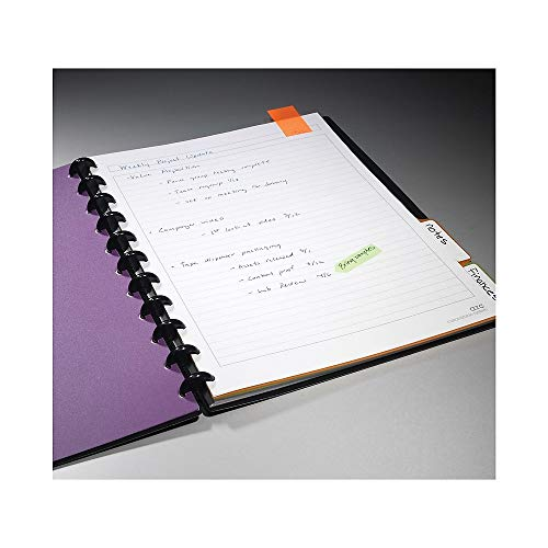 Staples Arc Customizable Durable Poly Notebook System, Black, (60 Ruled Sheets 11in/po x 8.5in/po)