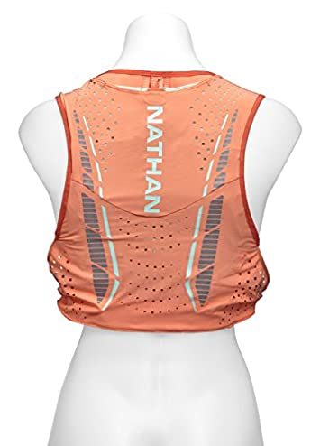 Nathan VaporHowe Hydration Pack, Running Vest, Includes two 12oz Flasks with Extended Straws, Compatible with 1.5L Hydration Bladder Reservoir, Women s