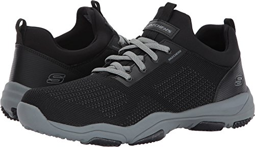 Knitted nbsp;Nerick Herren Skechers Low Larson Top Gray Black Mesh q10FA