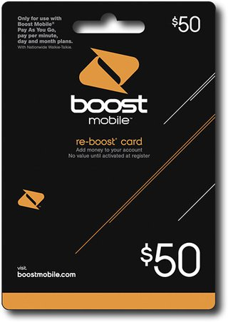 $50 Re-boost Card By Boost Mobile by Boost Mobile (Image #1)