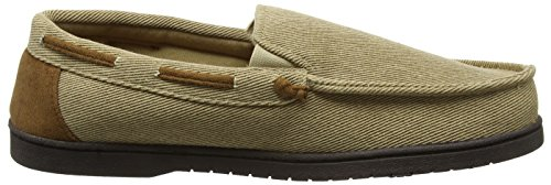Dearfoams Moccasin, Zapatillas de Estar por Casa para Hombre Beige (Khaki)