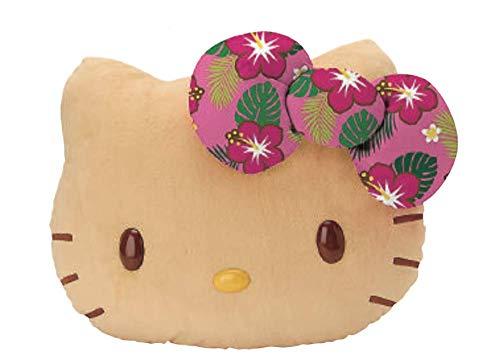 Sanrio Hello Kitty Summer Edition Face Squeezable Mochi Plush Cushion Pillow (Beach (Tan))