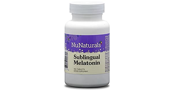 Amazon.com: NuNaturals Sublingual Melatonin Supplement for All Natural Sleep Support, Tablets, 180-Count: Health & Personal Care
