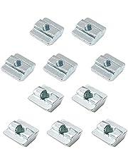KLEHOPE 10 Stukken Nikkel Met een laag bedekte T-groef Moer, M6, M8 2 Verschillende Specificaties van T-Slot Moer, Hamer Hoofd Nut voldoen aan de EU-normen