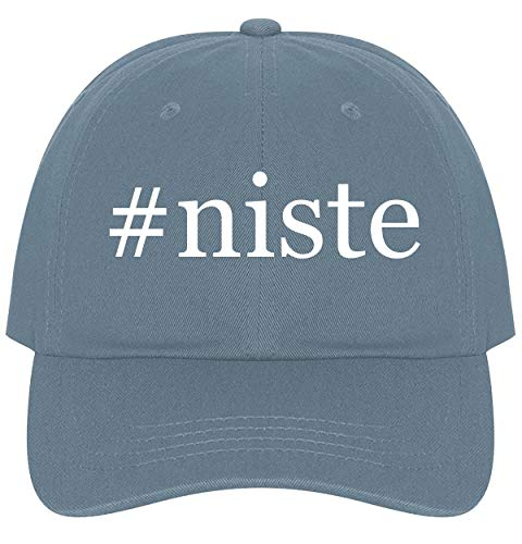 The Town Butler #NISTE - A Nice Comfortable Adjustable Hashtag Dad Hat Cap, Light Blue