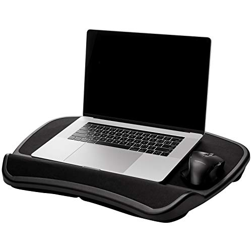 AmazonBasics XL Laptop Lap Desk Tray with Cushion, Fits up to 17.3 Inch Laptops