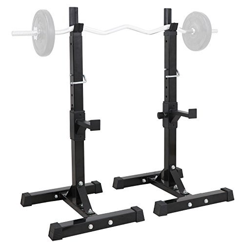 ZENY Pair of Barbell Bench Press Stands Hight Adjustable 41''-66'' Rack Sturdy Steel Squat Dumbbell Racks Stands for GYM/Home Gym Portable, Max Load 550Lbs by ZENY