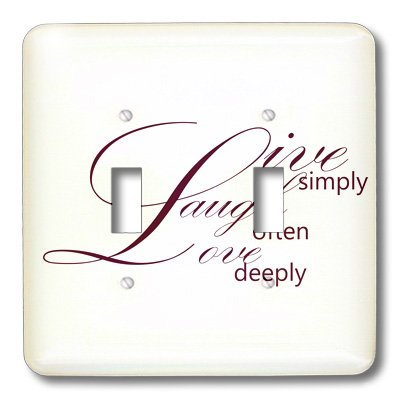 3dRose LLC lsp_79138_2 Live Simply, Laugh Often, Love Deeply- Inspirational Words Double Toggle Switch by 3dRose (Image #2)