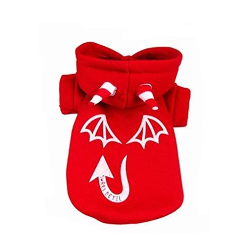 YYYTTS Pet Dog Costume, Halloween Pet Little Devil Dress (Color : Red, Size : M)