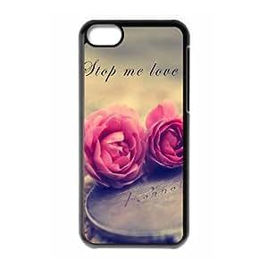WUCG Cheap Hard Back Case Cover for iPhone 5C, Custom Beautiful flowers Phone Case