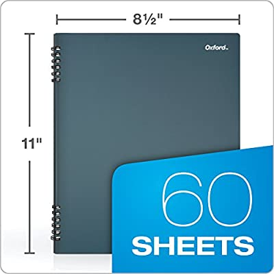 Blue Cover 161646 Oxford Stone Paper Notebook 2 Pack 60 Sheets 8-1//2 x 11