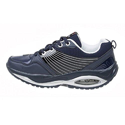 Aktiv-Schuhe für Damen, zur Gesäß-Straffung für Wohlbefinden, Sport, Fitness, mit abgerundeter Sohle Blau