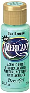 DecoArt Americana Acrylic Paint, 2-Ounce, Sea Breeze
