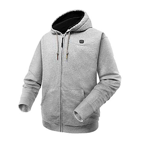 ororo Heated Hoodie with Battery Pack (Small,Light Gray)