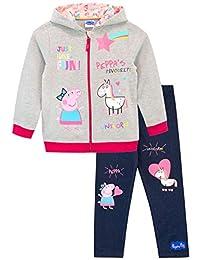 Peppa Pig Girls Unicorns Hoodie and Leggings Set