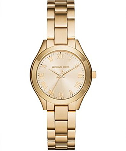 MICHAEL KORS MK3456 Slim Runway Gold Tone Dial Ladies Dress Watch