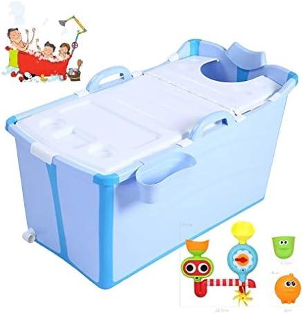 折りたたみバスタブ GYF 折り畳み式バスタブ ポータブル大人用バスタブ プラスチックカバーホーム全身 子供用入浴バケツ 厚くなった大人の浴槽 ホーム折りたたみ大人用バスタブ 91x50x53cm (Color : Blue)