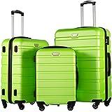 COOLIFE Luggage 3 Piece Set Suitcase Spinner Hardshell Lightweight