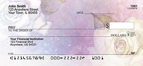 Watercolor Flowers Personal Checks (1 Box Singles)
