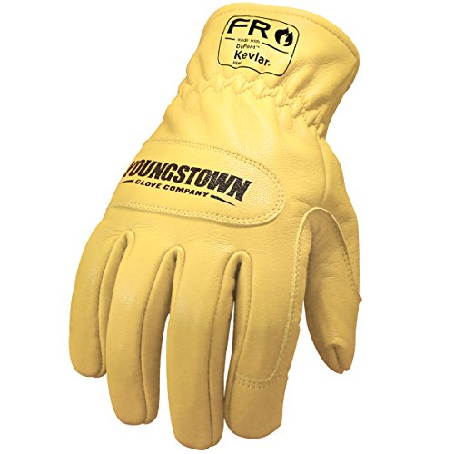 - Youngstown Glove 12-3365-60-L FR Ground Glove Lined w/ Kevlar Performance Work Gloves, Large, Tan