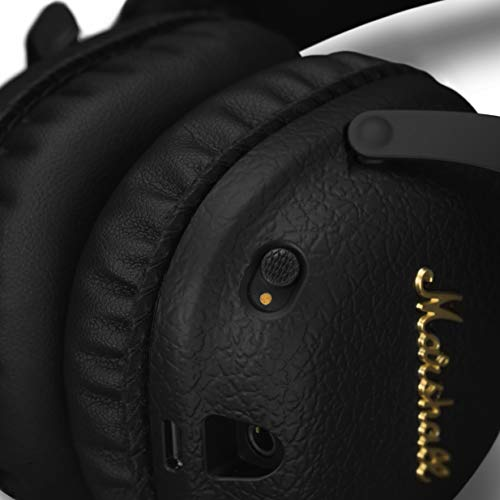41FXqtR17TL - Marshall Mid ANC Active Noise Cancelling On-Ear Wireless Bluetooth Headphone, Black (04092138)