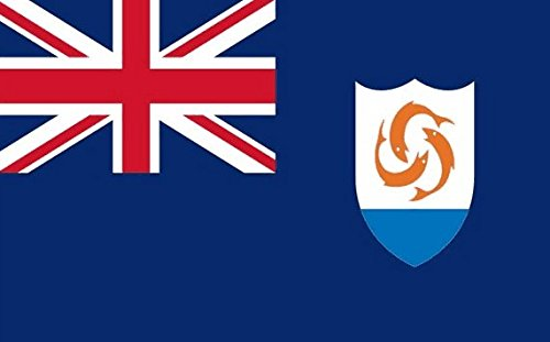 Anguilla Flag 5ft x 3ft Large - 100% Polyester - Metal Eyelets - Double -