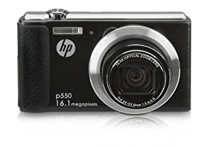 HP HP-P550 16MP Digital Camera with 12.5x Optical Image Stabilized Zoom and 2.7-Inch LCD Screen (Black) from Agfa Cameras
