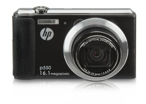 HP HP-P550 16MP Digital Camera with 12.5x Optical Image Stabilized Zoom and 2.7-Inch LCD Screen (Black) For Sale