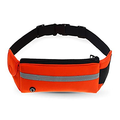 Refoss Running Waist Pack, Water Resistant Fanny Pack, Expandable Sport Belt with Water Bottle Holder, Great for Biking, Hiking, Travel and Outdoor Activities
