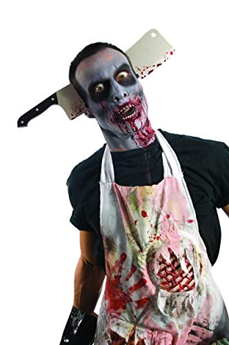 Rubie's Zombie Shop Cleaver Through Head, Silver/Red/Black, One Size]()