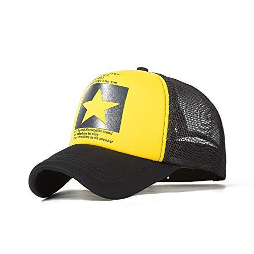 野球帽女性屋外野球帽通気性の男性の女性サマーメッシュキャップ野球帽キャップ,B