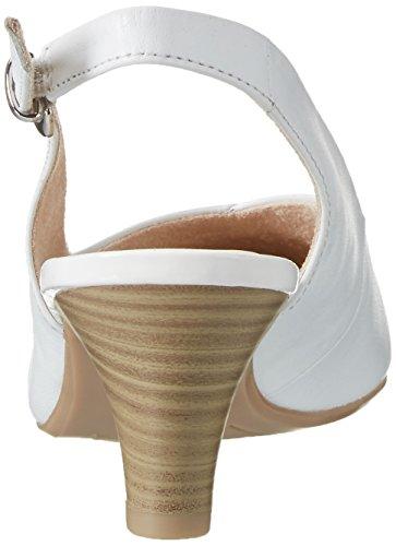 Caprice 29699, Sandalias con Cuña para Mujer Blanco (White)
