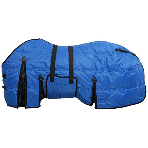AJ Tack Wholesale Belly Wrap Horse Stable Blanket Rug 600D Light Weight Quilted Royal Blue 81